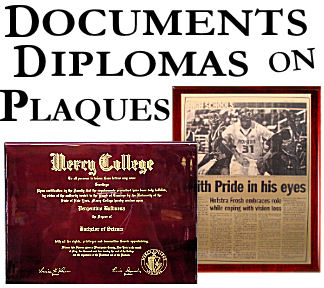 Diploma and Document Plaque Reproductions