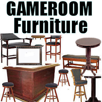 Game Room Furniture / Wall Decor / Bars / Stools / Seating