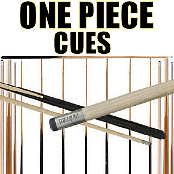 One Piece Pool Cues