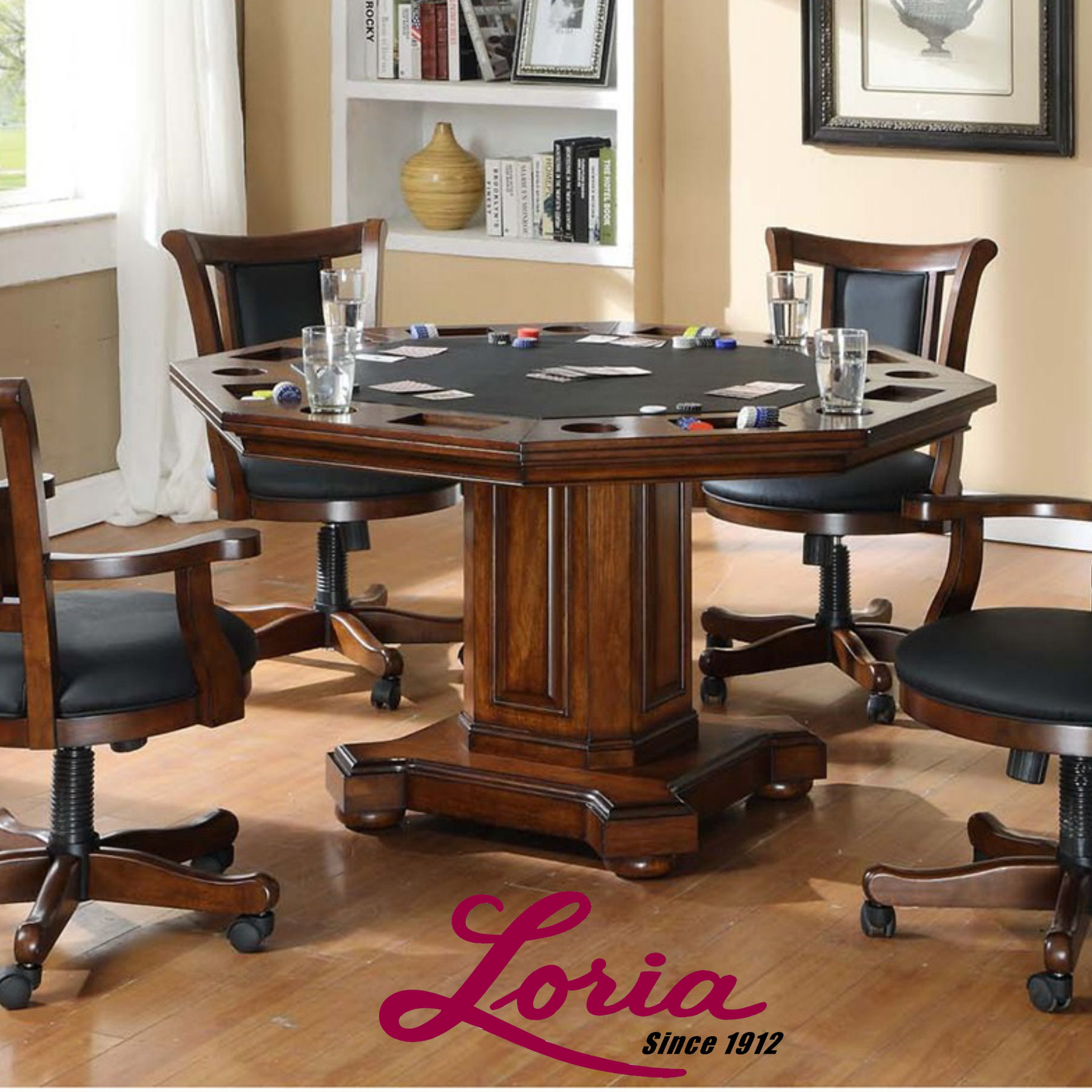 Game Table And Chairs Set 52 Imperial 2 In 1 Gametable Set Incudes 4 Rocker Swivel