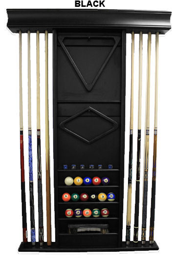 Imperial Deluxe Wood Wall Cue Rack 6 Finishes