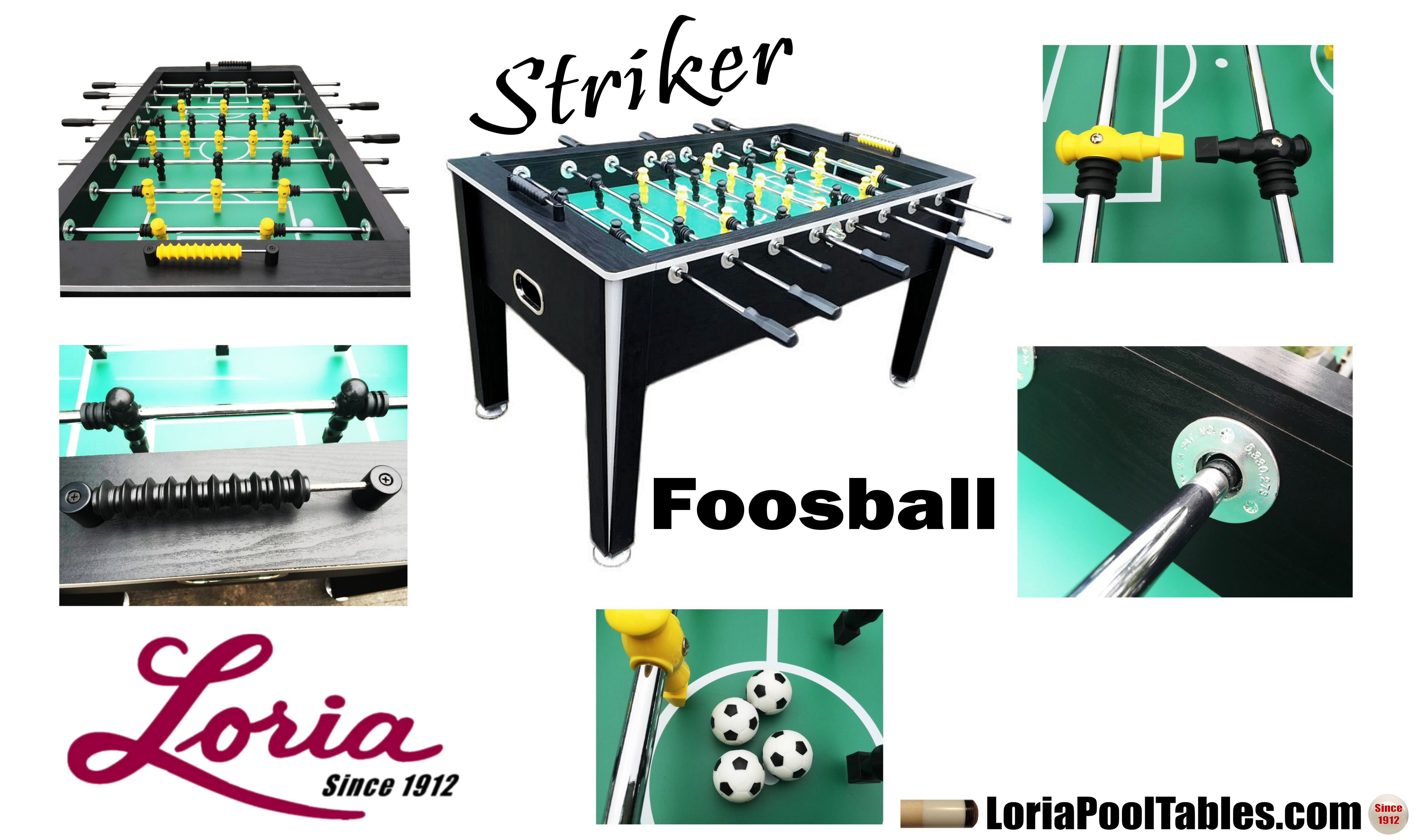 Imperial Striker Foosball Table. Click Image To Enlarge. Click On Thumbnail  To Zoom