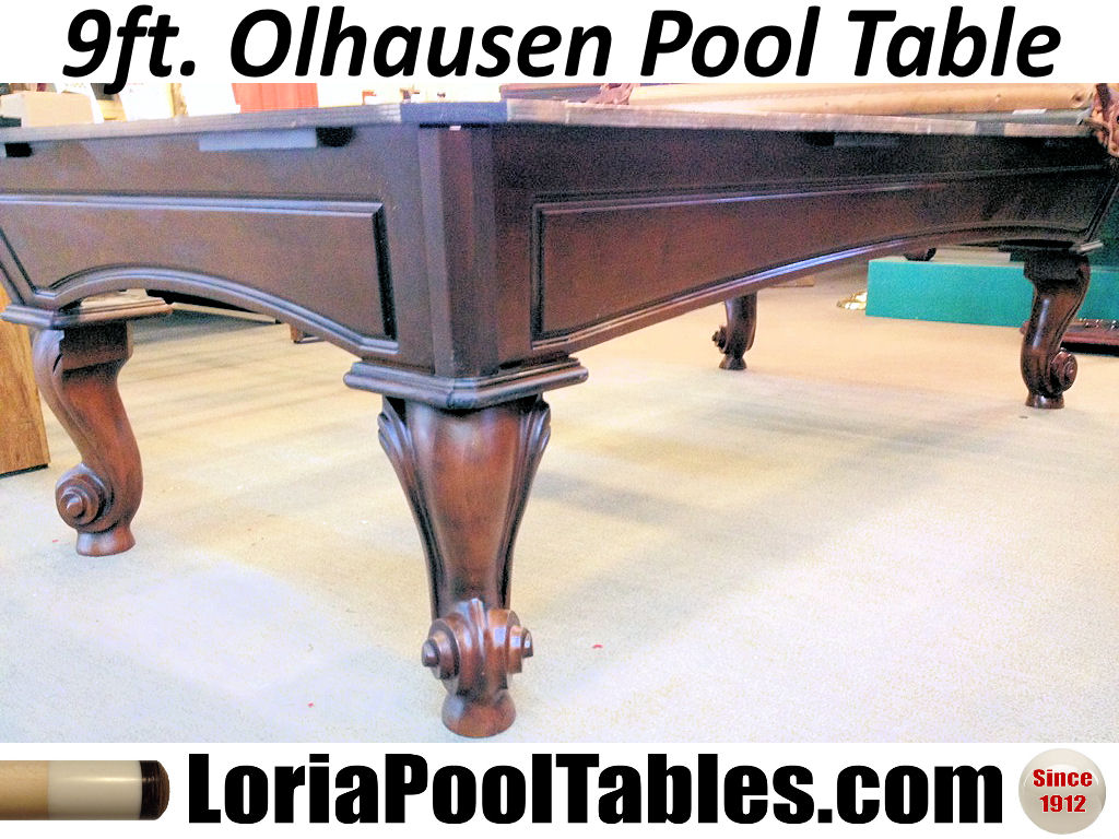 Setting Up A Pool Table Sold Pre Owned Olhausen 9ft Pool Table Immediate Delivery Set