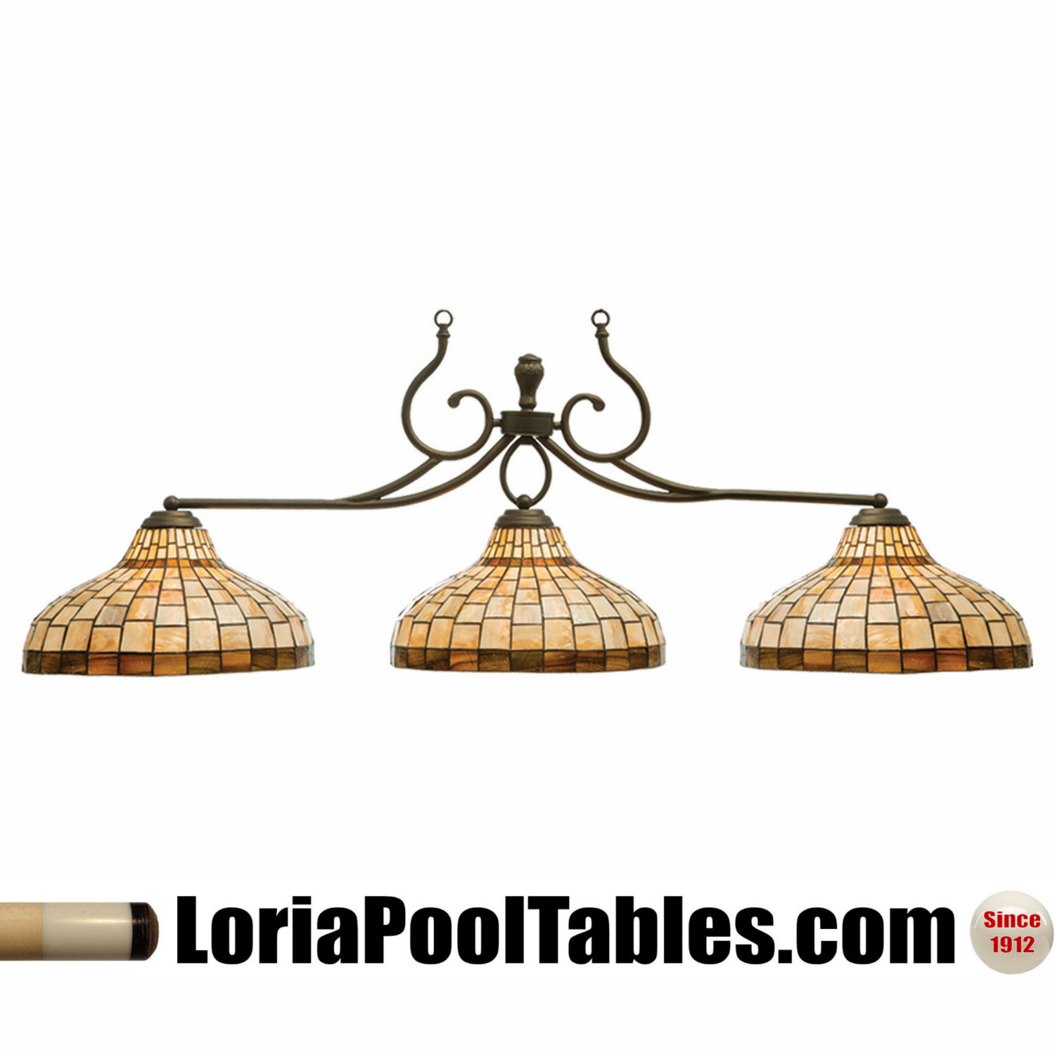 Stained Glass Billiard Pool Table Light Fixture: Carolina Stained Glass Pool Table Light Fixture @ Loria Awards