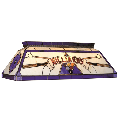 """Stained Glass Billiard Pool Table Light Fixture: CF """"Billiards"""" Blue Glass Pool Table Light Fixture @ Loria"""