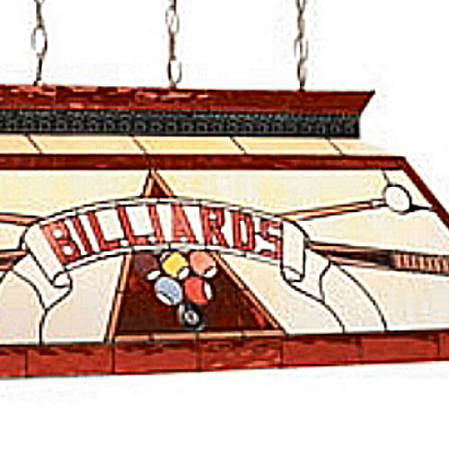 "Stained Glass Billiard Light: CF ""Billiards"" Red Glass Pool Table Light Fixture @ Loria"