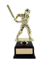 Trophy Cricket Batsman Xl Figure On Black Marble Base