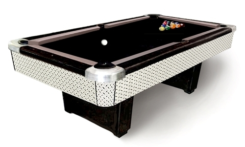 Marvelous The Oakwood Diamond Plate Pool Table