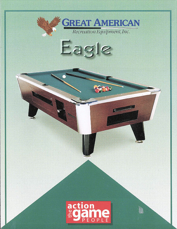 Great American Coin Operated Eagle Pool Table Loria Awards - Us billiards pool table