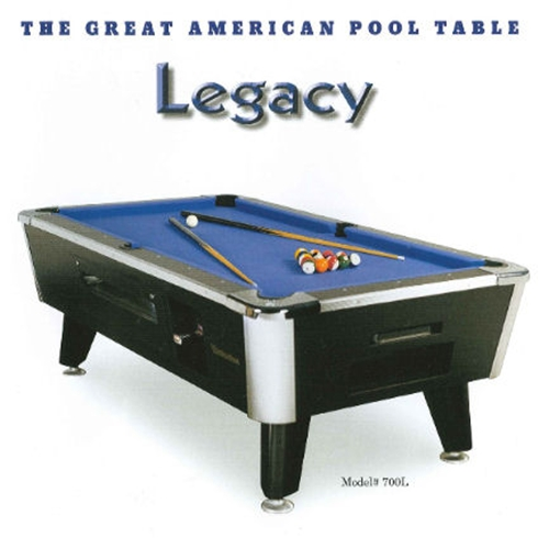 Great American Coin Operated Legacy Pool Table Loria Awards - Great american pool table