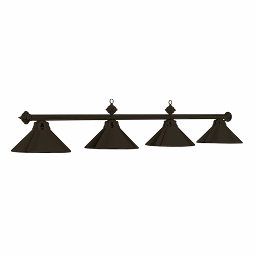 78 Black Metal 4 Shade Pool Table Light Fixture