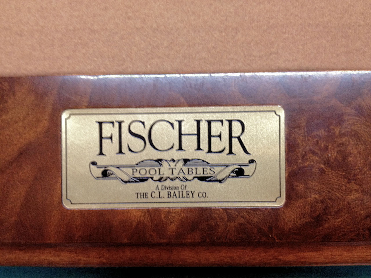 SOLD PreOwned Fischer CL Bailey Ft Pool Table IMMEDIATE - Cl bailey pool table