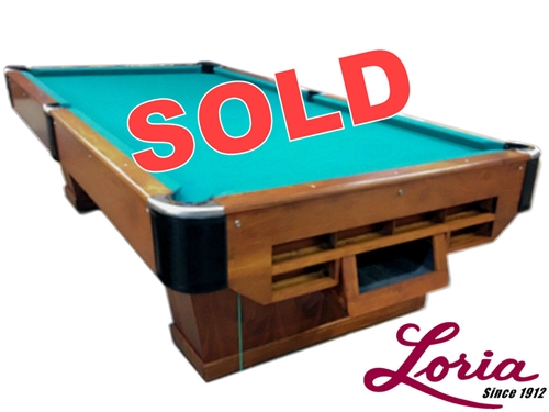 SOLD-Pre-Owned Loria Deluxe Pedestal 9ft Regulation Pool Table- IMMEDIATE DELIVERY u0026 SET UP ...