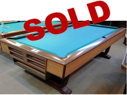 Preowned Pool Table Sale IMMEDIATE DELIVERY SET UP Loria Awards - Brunswick oak pool table