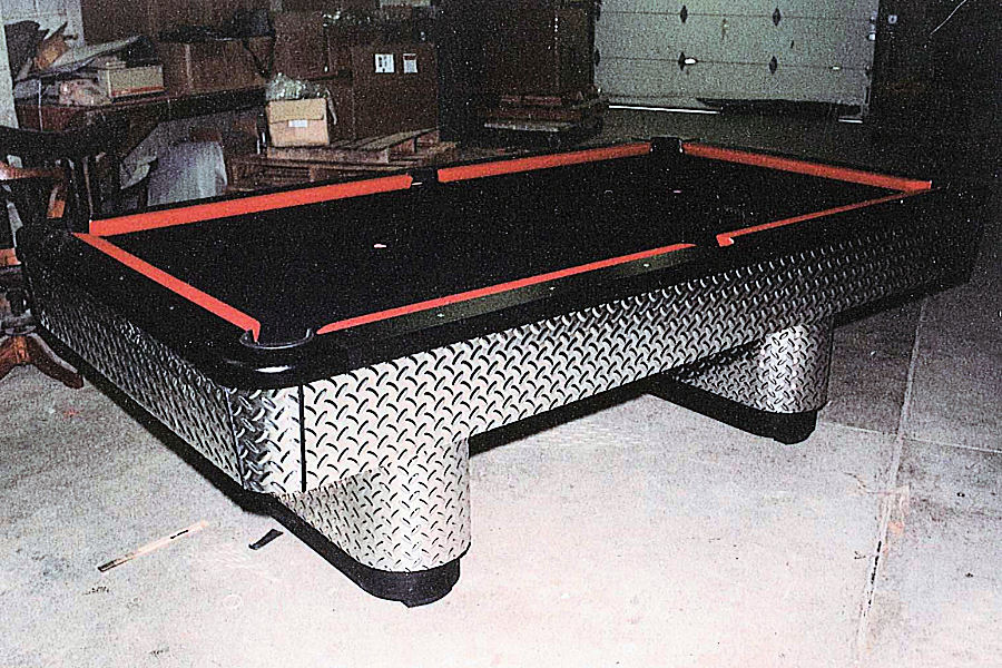 Charming The Starlite Diamond Plate Pool Table