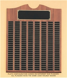 perpetual award plaques honor winners monthly or yearly for sports