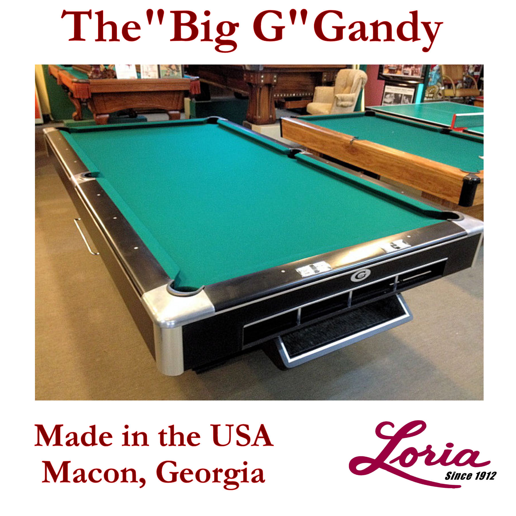 SOLD PreOwned Big G Gandy Commercial Grade Ft Regulation Pool - How to set up a pool table