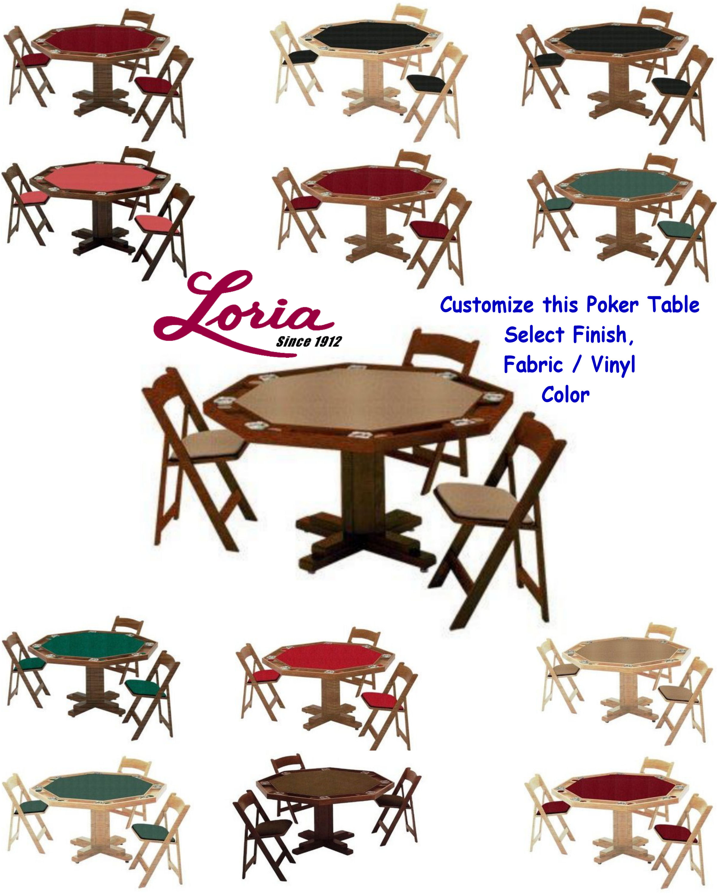 Pedestal Poker Table By Kestell 17. Click On Thumbnail To Zoom