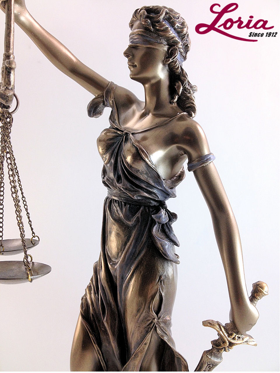 Lady justice standing with scales of justice statue loria awards click on thumbnail to zoom buycottarizona