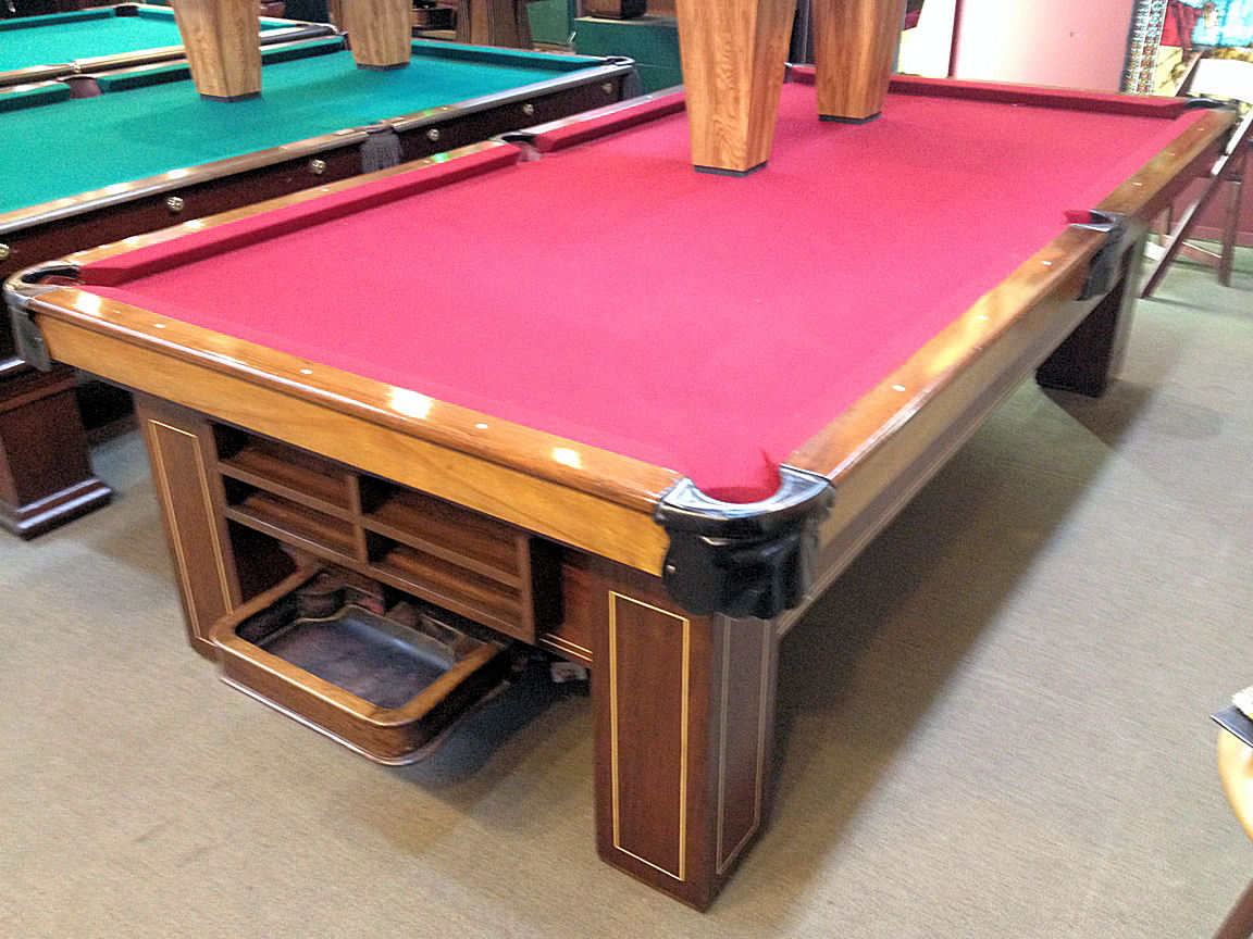 SOLD PreOwned Brunswick Antique Madison Ft Regulation Pool Table - 9 ft brunswick pool table