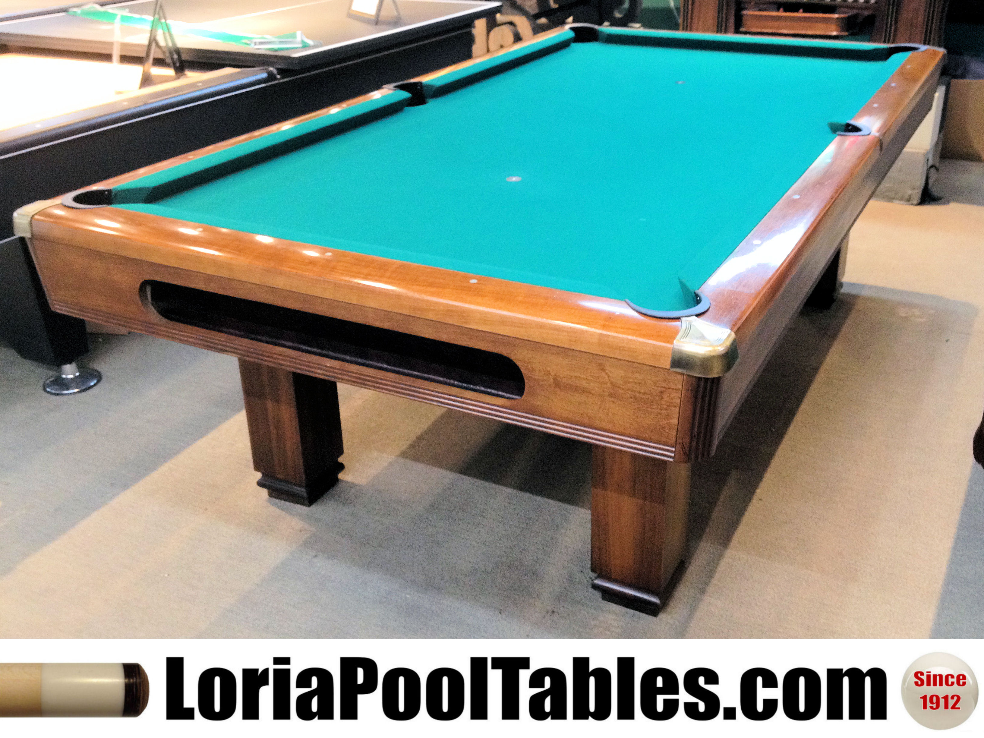 SOLD Pre Owned 8ft. Brunswick Hawthorn Pool Table. Click On Thumbnail To  Zoom