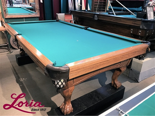 Pre Owned Spartan II 9ft. Pool Table American Made   IMMEDIATE DELIVERY U0026  SET UP!