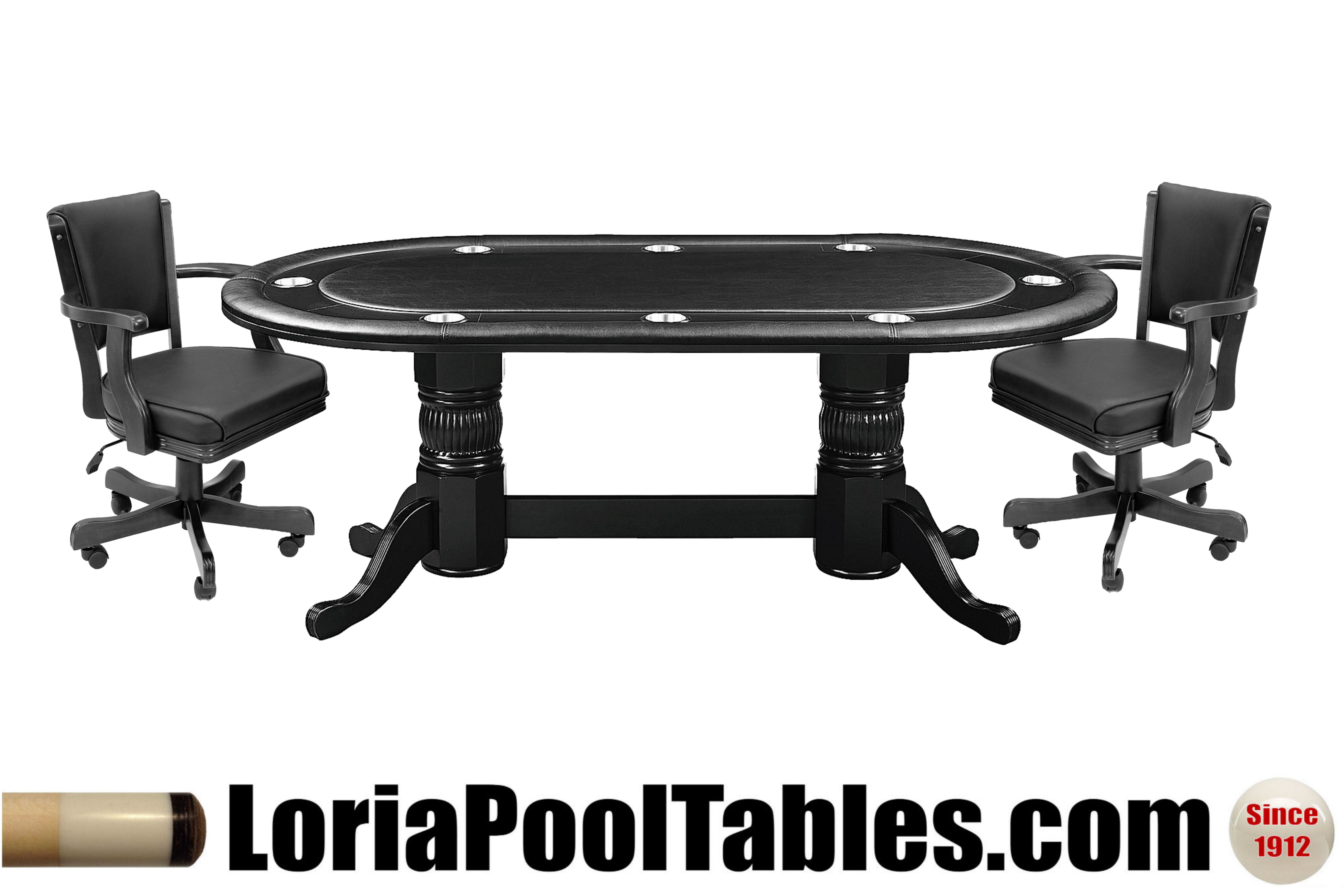 84 Pedestal Poker Table with Optional Dining Top Loria Awards
