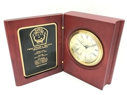 "TR-BC69 Rosewood Finish Book Clock 5-3/8"" x 4-1/4"""
