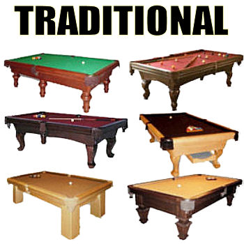 Pool Tables • Traditional • Contemporary • Commercial • Coin