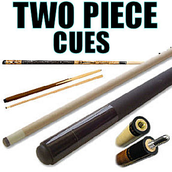 Two-Piece Pool Cues