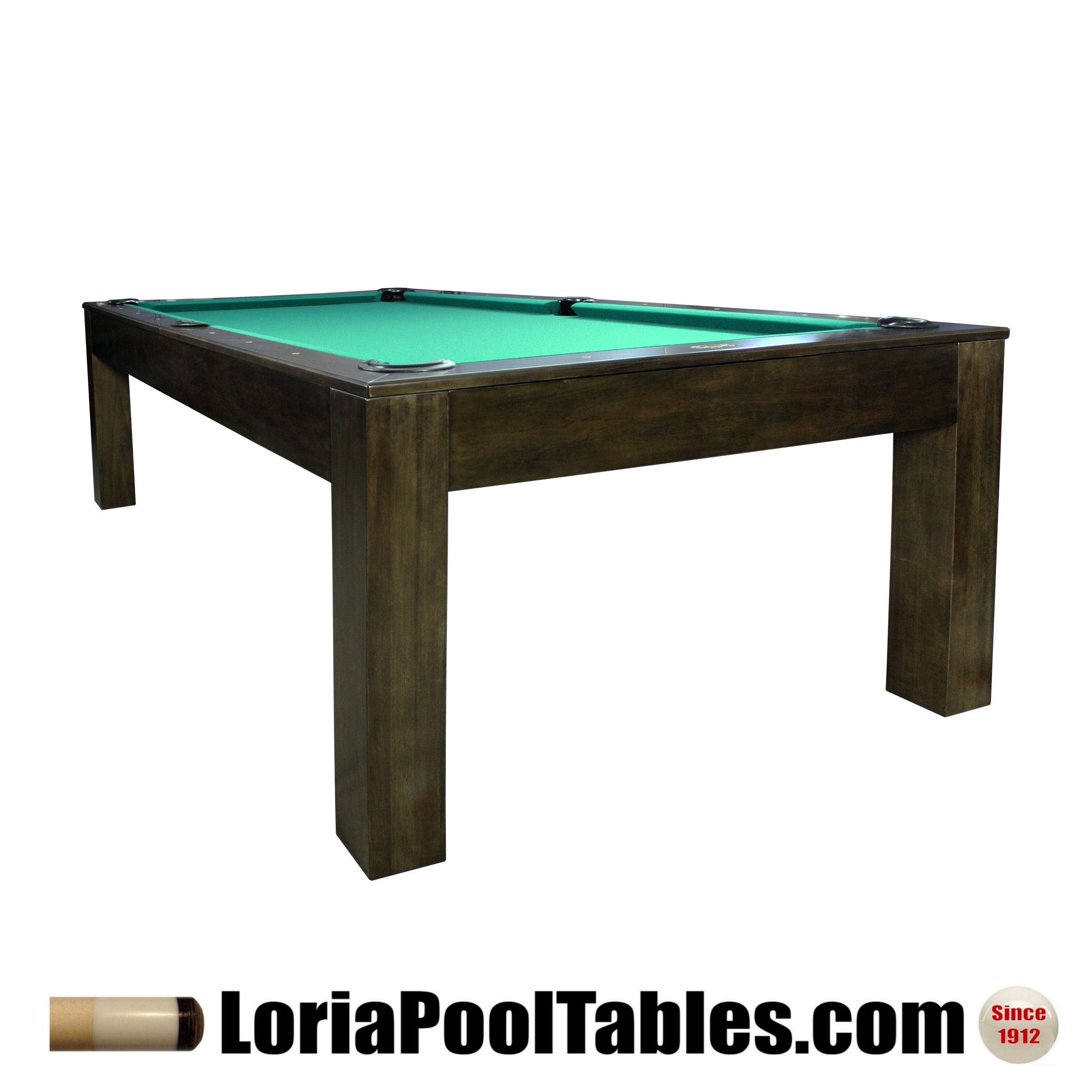 The Penelope Charcoal Finish Pool Table With Dining Top